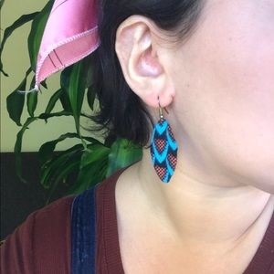 Jewelry - Handmade West African WAX Fabric Earring